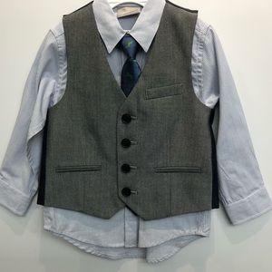 Boys Next Vest Shirt & Tie Set Size 1 1/2 - 2 yrs